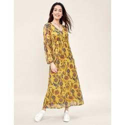Vêtements Femme Robes longues La Fiancee Du Mekong Robe longue imprimée dentelles MICHA Jaune curry