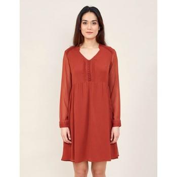 Vêtements Femme Robes courtes La Fiancee Du Mekong Robe ample dentelle DOKO Rouge merlot