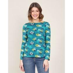 Vêtements Femme T-shirts manches longues La Fiancee Du Mekong T-shirt imprimé col bateau GERO Bleu turquoise