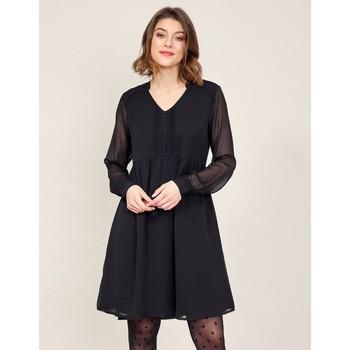 Vêtements Femme Robes courtes La Fiancee Du Mekong Robe ample dentelle DOKO Noir