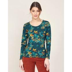 Vêtements Femme T-shirts manches longues La Fiancee Du Mekong T-shirt imprimé col rond MISAWA Vert émeraude