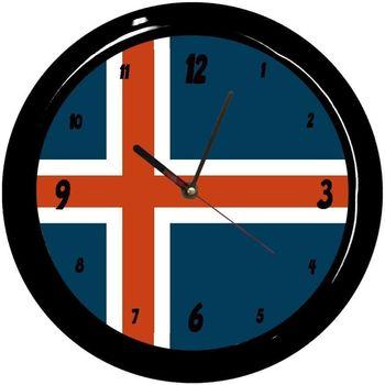 Maison & Déco Horloges Pays Du Monde Pendule ronde Islande Cbkreation Multicolore