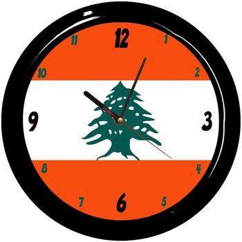 Maison & Déco Horloges Pays Du Monde Pendule ronde Liban Cbkreation Rouge