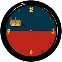 Maison & Déco Horloges Pays Du Monde Pendule ronde Liechtenstein Cbkreation Multicolore
