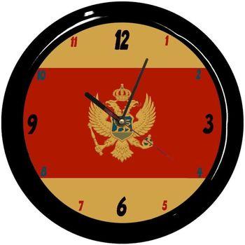Maison & Déco Horloges Pays Du Monde Pendule ronde Montenegro Cbkreation Multicolore