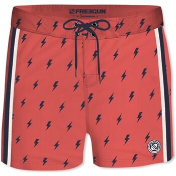 Vêtements Garçon Maillots / Shorts de bain Freegun Boardshort soft touch garçon ceinture plate Flash Rouge