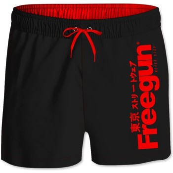 Vêtements Garçon Maillots / Shorts de bain Freegun Boardshort Court garçon ceinture élastique Logo Noir