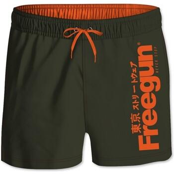 Vêtements Garçon Maillots / Shorts de bain Freegun Boardshort Court garçon ceinture élastique Logo Vert