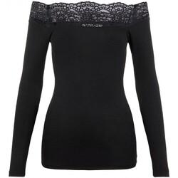 Vêtements Femme Tops / Blouses Pieces Top épaules dénudées Taille : F Noir XS Noir