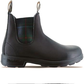 Chaussures Femme Boots Blundstone Botte Tartan Noir Vert Noir Noir