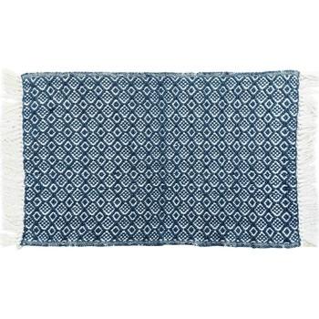 Maison & Déco Tapis 1001Kdo Pour La Maison Tapis a franges Pithaya bleu