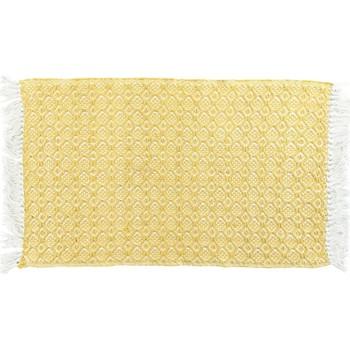 Maison & Déco Tapis 1001Kdo Pour La Maison Tapis a franges Pithaya jaune
