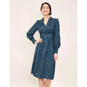Vêtements Femme Robes courtes La Fiancee Du Mekong Robe midi fluide imprimée RITSOUKO Bleu marine