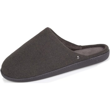 Chaussures Homme Chaussons Isotoner Chaussons mules confortable Gris Chiné