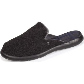 Chaussures Homme Chaussons Isotoner Chaussons mules confort extrême Noir Chiné