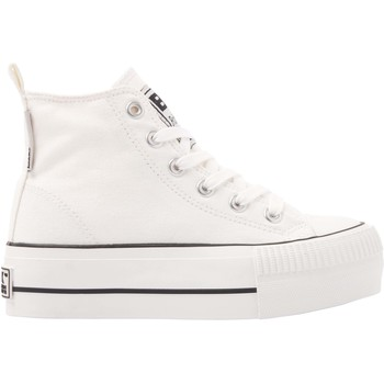 Chaussures Fille Baskets montantes British Knights KAYA MID FILLES BASKETS MONTANTE blanc