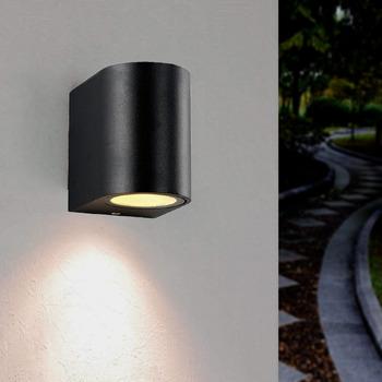 Maison & Déco Appliques Silumen Applique Murale LED IP44 Noir pour Noir