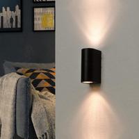 Maison & Déco Appliques Silumen Applique Murale Noire LED IP44 Noir