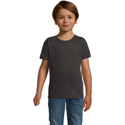 Vêtements Garçon T-shirts manches courtes Sols REGENT FIT CAMISETA MANGA CORTA Gris
