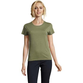Vêtements Femme T-shirts manches courtes Sols REGENT FIT CAMISETA MANGA CORTA Kaki