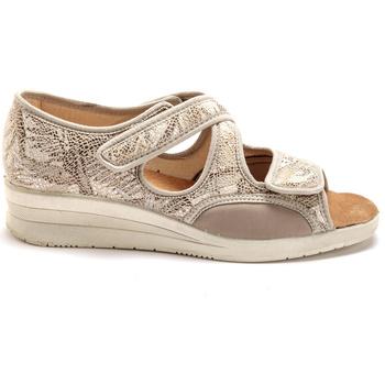Chaussures Femme Sandales et Nu-pieds Pediconfort Sans-gêne à ouverture totale imprimbeige