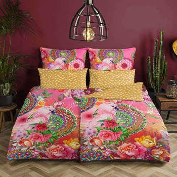 Maison & Déco Parures de lit Hip Housse de couette 155 x 220 cm Multicolore