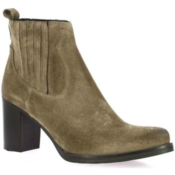 Chaussures Femme Boots Spaziozero Boots velours Taupe