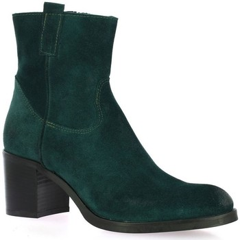 Chaussures Femme Boots Spaziozero Boots cuir velours  petrole Petrole