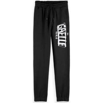 Vêtements Femme Pantalons de survêtement GaËlle Paris Pantalon sweat avec imprim noir Noir