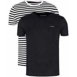 Vêtements Homme T-shirts manches courtes Calvin Klein Jeans Pack x2 classic tee Zebre