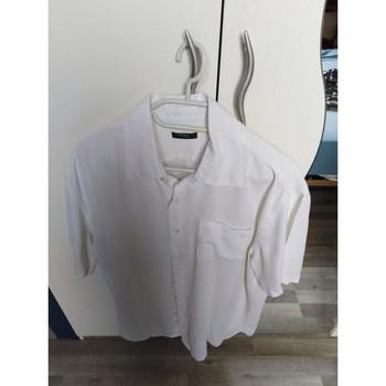Vêtements Homme Chemises manches courtes Sans marque Chemisette Blanc