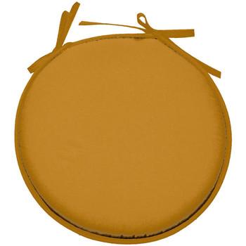 Maison & Déco Galettes de chaise Retro Galette de chaise Curry ronde en polyester Jaune