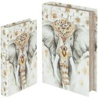 Maison & Déco Paniers, boites et corbeilles Signes Grimalt Ensemble De 2 Boîtes Livre Elefante Mis 2U Multicolor