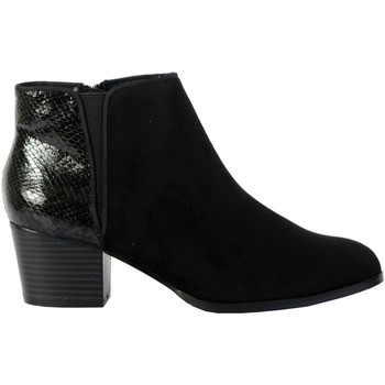 Chaussures Femme Low boots The Divine Factory Bottines QL4046 Noir