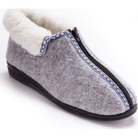 Chaussures Femme Chaussons Charmance Bottillons fourrés à ouverture totale gris