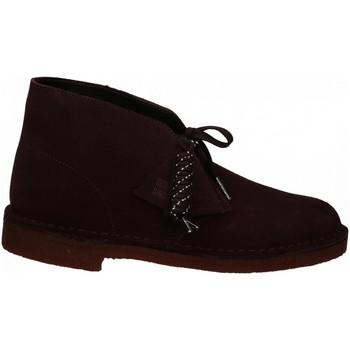 Chaussures Homme Boots Clarks DESERT BOOT M burgundy
