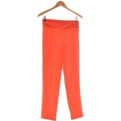 Vêtements Femme Pantalons fluides / Sarouels Jacqueline Riu Pantalon Droit Femme  36 - T1 - S Rouge
