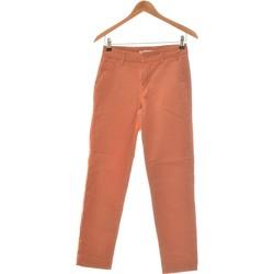 Vêtements Femme Pantalons fluides / Sarouels Camaieu Pantalon Slim Femme  34 - T0 - Xs Orange