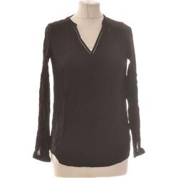 Vêtements Femme Tops / Blouses Camaieu Top Manches Longues  36 - T1 - S Noir