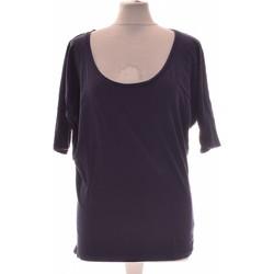 Vêtements Femme Tops / Blouses Naf Naf Top Manches Courtes  36 - T1 - S Bleu