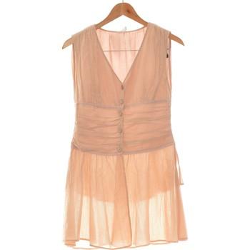 Vêtements Femme Robes courtes Jacqueline Riu Robe Courte  38 - T2 - M Beige