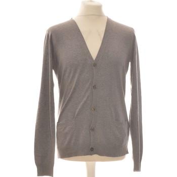 Vêtements Homme Gilets / Cardigans Galeries Lafayette Gilet Homme  40 - T3 - L Gris