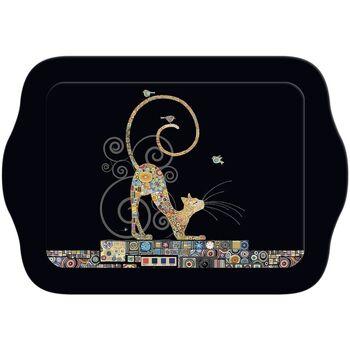 Maison & Déco Vides poches Le Monde Des Animaux Mini plateau rectangulaire BUG ART JEWELS - Chat Klimt Noir