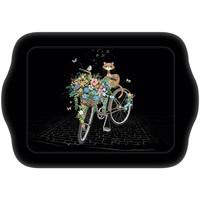 Maison & Déco Vides poches Le Monde Des Animaux Mini plateau rectangulaire BUG ART JEWELS - Chat vélo Noir