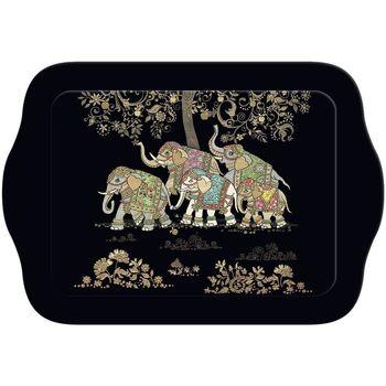 Maison & Déco Vides poches Le Monde Des Animaux Mini plateau rectangulaire BUG ART JEWELS - Éléphants Noir