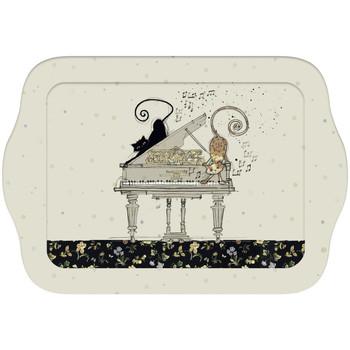 Maison & Déco Vides poches Le Monde Des Animaux Mini plateau rectangulaire Chats et Piano Beige