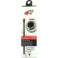 Beauté Femme Mascaras Faux-cils Yes Love Gel pour sourcils Noir avec pinceau   3,3g Noir
