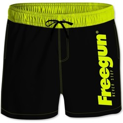 Vêtements Homme Maillots / Shorts de bain Freegun Boardshort court homme avec ceinture demi-élastiquée Noir