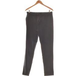 Vêtements Femme Chinos / Carrots Zara Pantalon Droit Femme  38 - T2 - M Bleu
