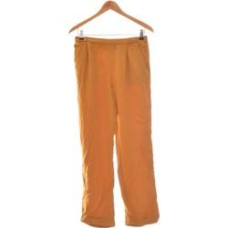 Vêtements Femme Pantalons fluides / Sarouels Zara Pantalon Droit Femme  36 - T1 - S Orange